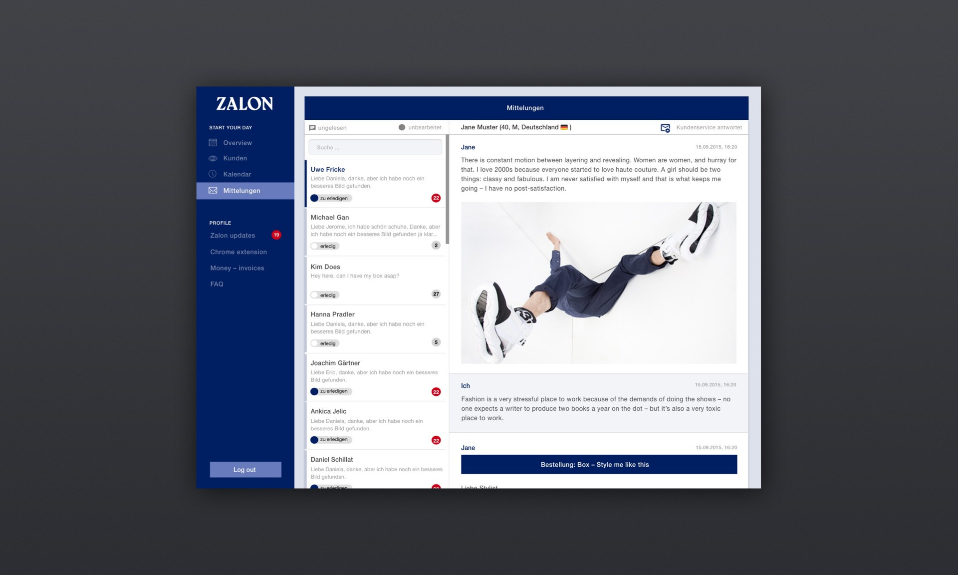 Design & Creative direction Zalon by Zalando