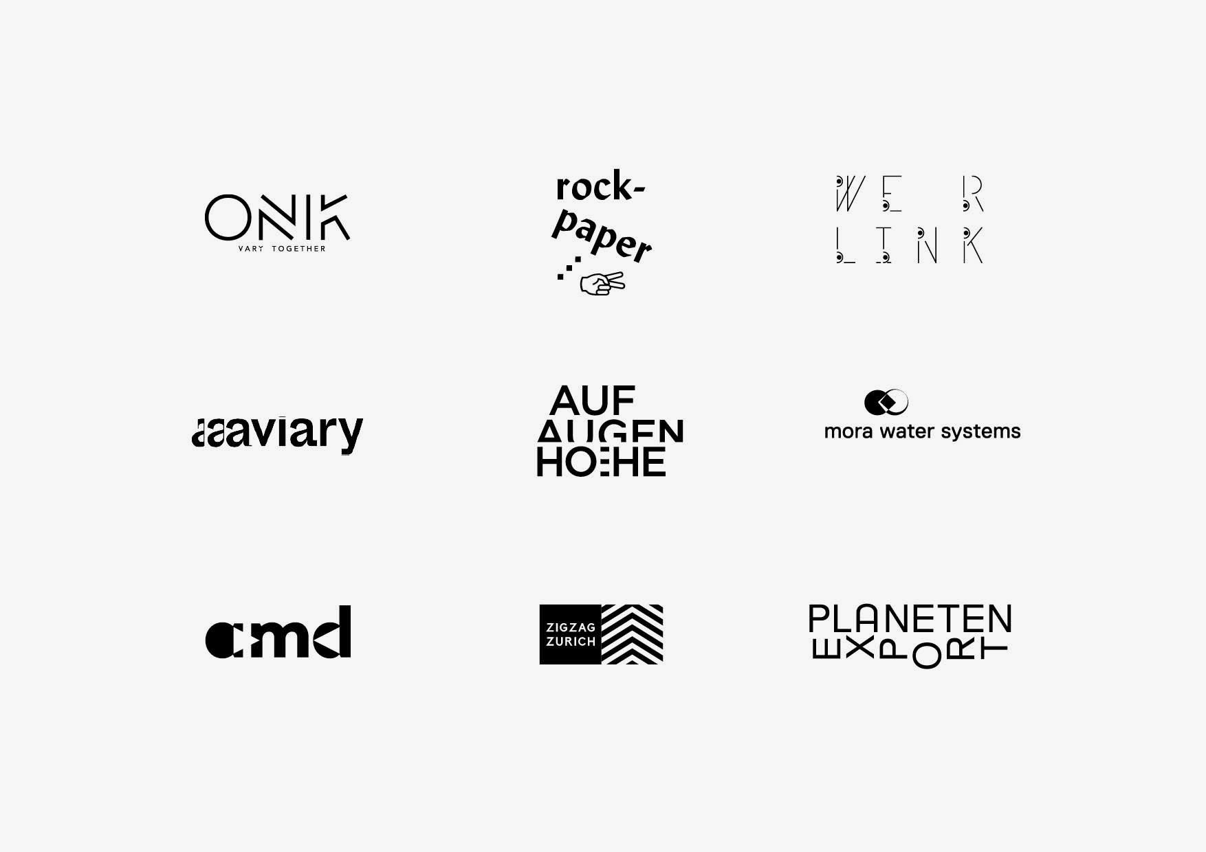 Design & Creative direction Logotypes