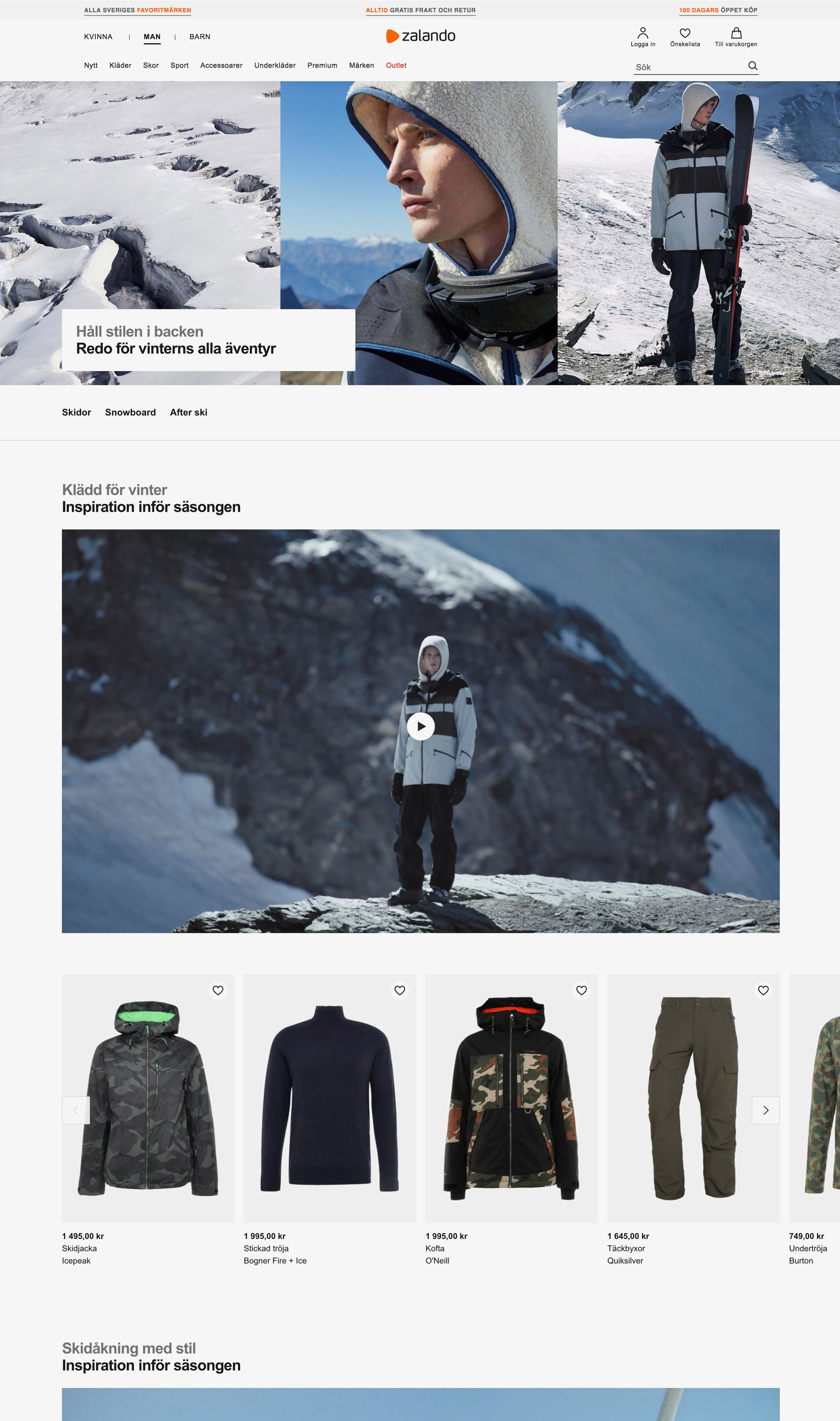 b8082cfe ... Design & Creative direction Zalando Winter Sport Campaign AW18/19